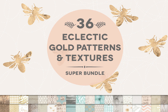 36 Gold Weathered Texture Bundle
