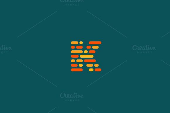 Dynamic Code Blocks Letter K Logo