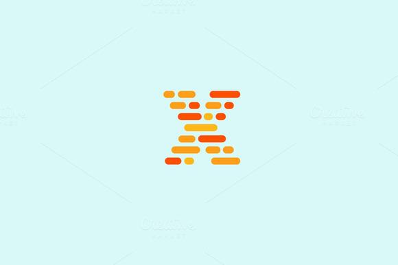 Dynamic Code Blocks Letter X Logo