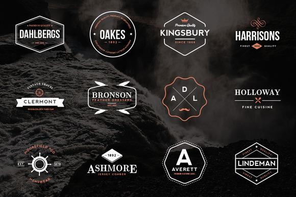 24 Vintage Logos Emblems