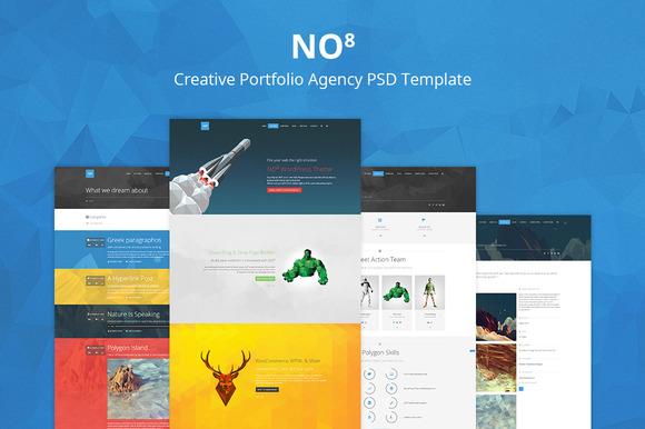 NO8 Creative Portfolio Agency PSD