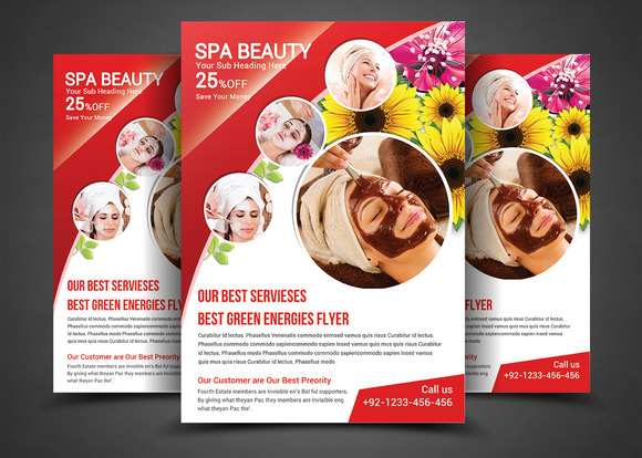 Spa Beauty-Print Templates Flyer