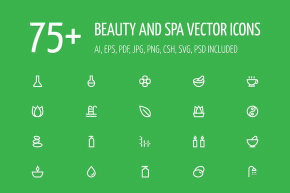75 Beauty And Spa Vector Icons