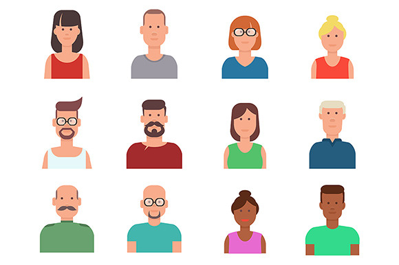 Flat Vector People Icons