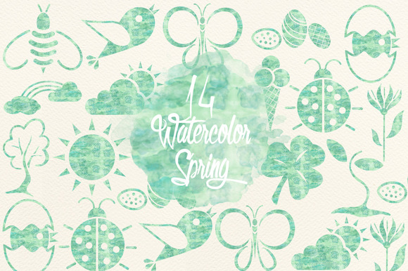 Watercolor Mint Spring