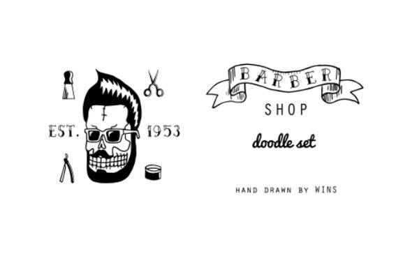 Barber Shop Doodle Set