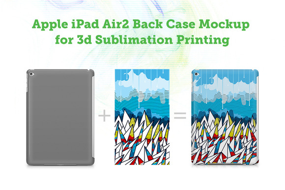 IPad Air2 3D Sublimation Mockup