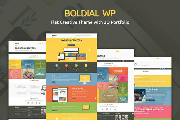 Boldial Flat Creative PSD