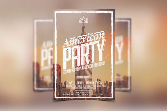 American Party Flyer Template