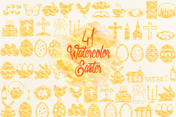 Watercolor Yellow Easter