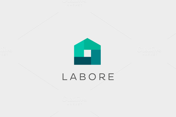 Abstract House Logo Design Template