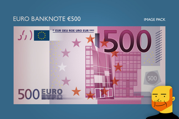 Euro Banknote Ђ500