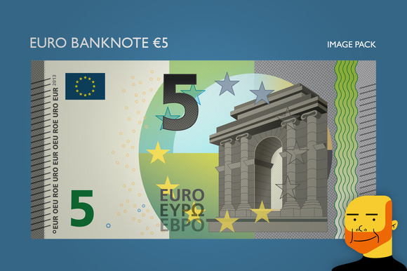 Euro Banknote Ђ5