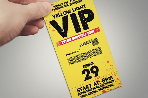 Yellow Light Vip Pass Card
