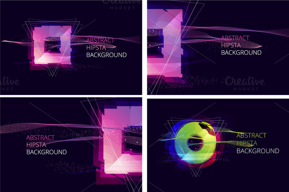 Abstract Hipsta Vector Background