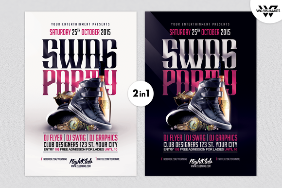 SWAGG BLING BLING Flyer Template