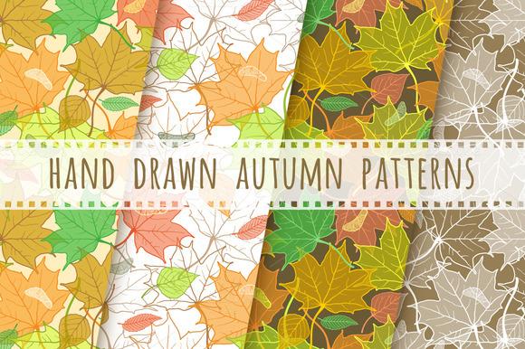 Fallen Leaves Hand Drawn Patterns