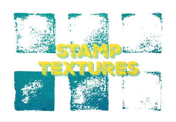 Set Of 6 Vector Stamp Textures Ai