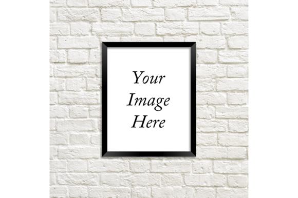 Black Frame Photo Mockup Brick