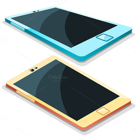 Tablet Mobile Phone In Vector Illust