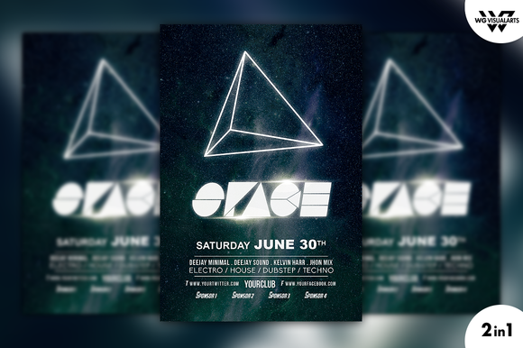 SPACE GALAXY Flyer Template