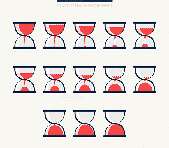 Set Of Charts In Form Hourglasses I