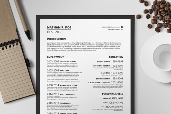 Resume CV Template I