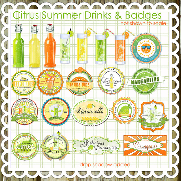 22 Citrus Summer Drinks Labels