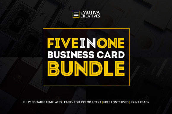 Business Card Bundle 5 In 1
