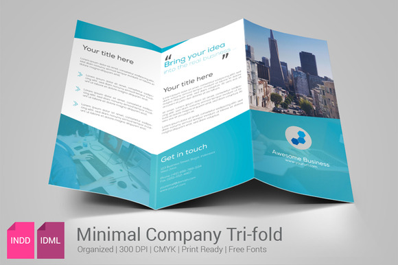 Minimal Business Trifold Brochure