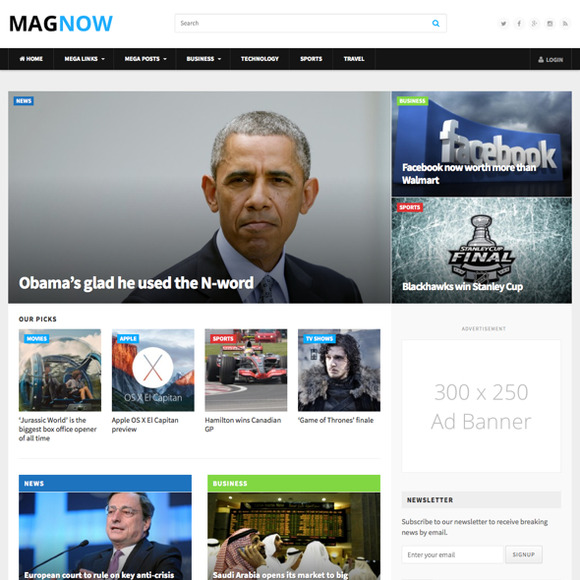 MagNow WordPress Magazine Theme