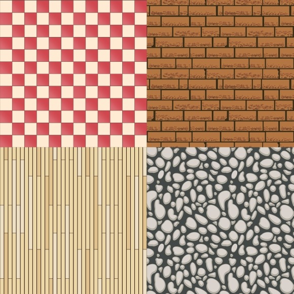 Wooden Stone Tiles And Bricks