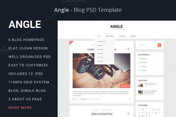 Angle Blog PSD Template
