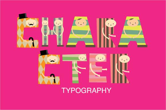 Character Typography Vector