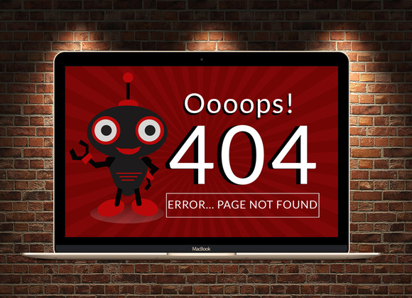 404 Error Page PSD FIle