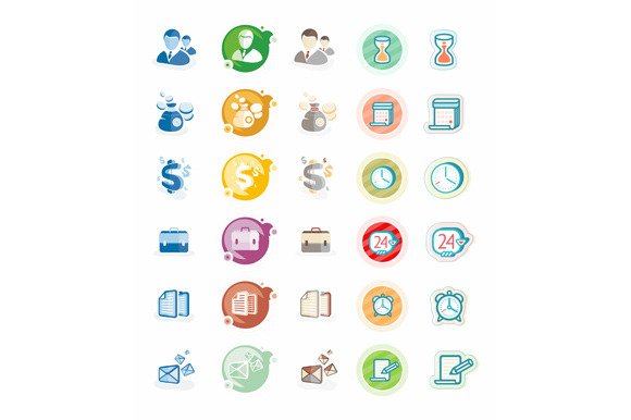 Set Business And Management Icons