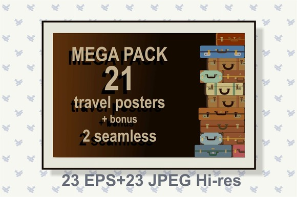 21 Travel Posters 2 Seamless