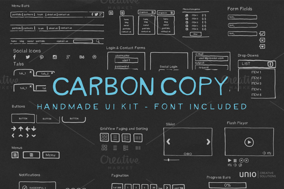 Carbon Copy Handmade UI Kit