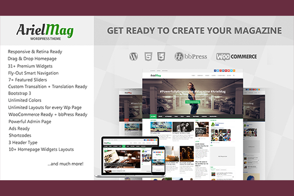 ArielMag Responsive WordPress Theme