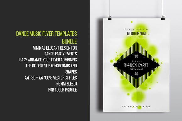 Dance Music Flyer Templates Bundle