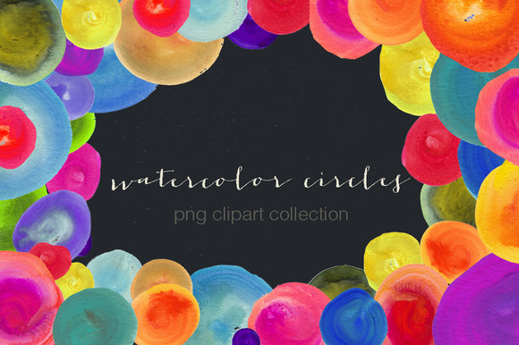 Watercolor Circle Clipart