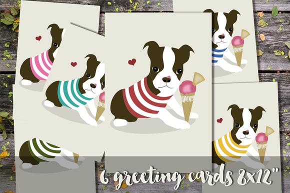 Boston Terrier Dog Cards