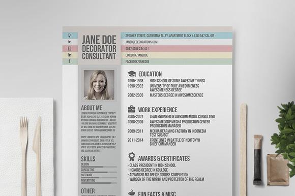 Resume CV Template V