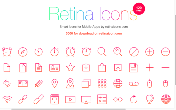 Free Download 120 Icons