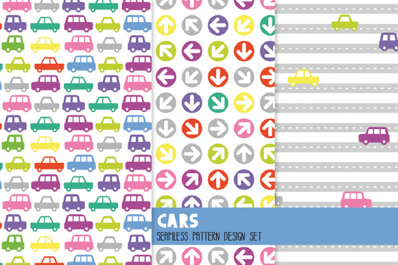 Cars Pattern Set