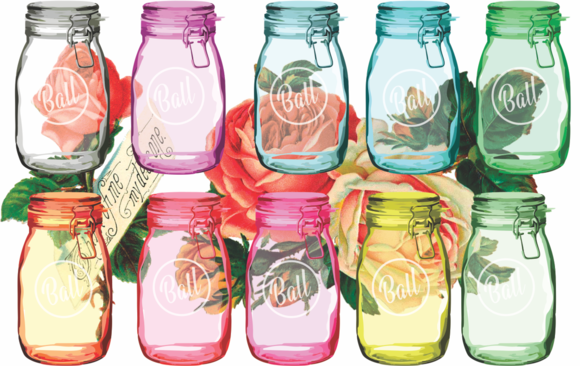Mason Jars With Transparency