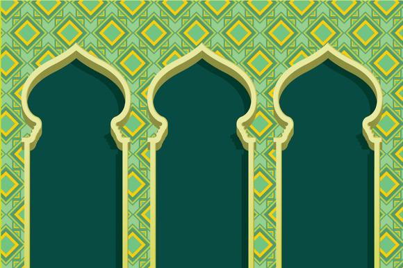 Islam Arch Raya Vector