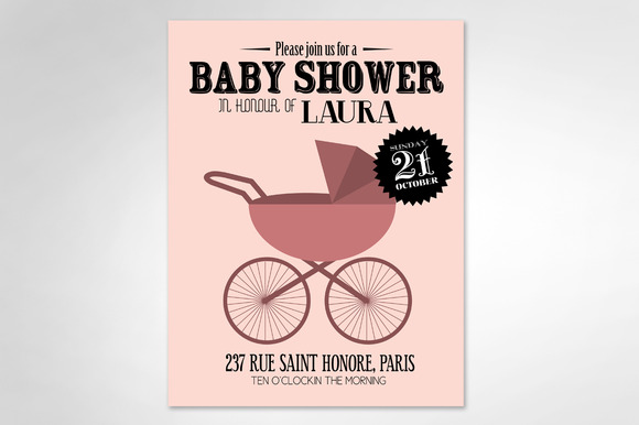 Baby Girl Baby Shower Template