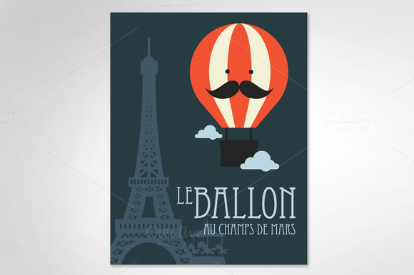 Hot Air Balloon Paris Vector