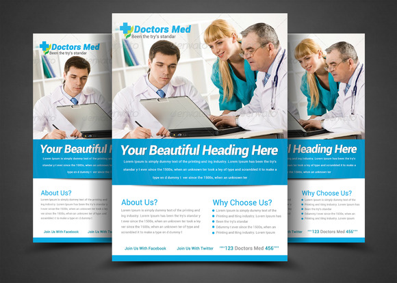 Health Medical Doctors Flyer Templ